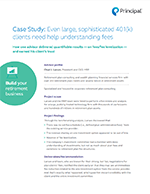 Case study: Opportunities to improve 401(k) plan design | Principal