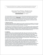 Sample fee policy statement: thumbnail image of sample fee policy statement